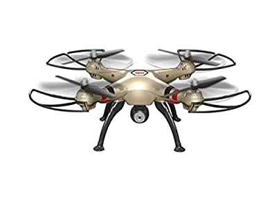 Syma – x8hc Quad-copter with Gyroscope and Camera – Gold (13732)