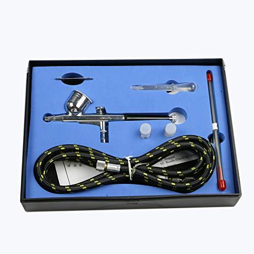 LWAY Aerografo a Doppia Azione Pistola Trigger 0.2/0.5mm Airbrushes Set per Art Painting Tattoo Manicure Spray Modello Air Brush Nail Strumento