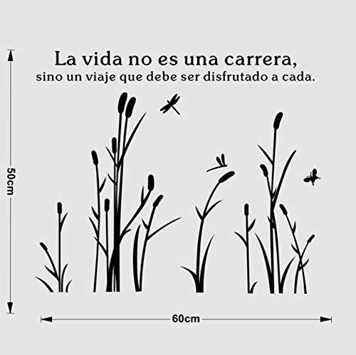 Promotion Das Leben ist eine Reise Spanisch Zitate Wandaufkleber Pflanze Kunst Aufkleber für Wohnzimmer Schlafzimmer Fenster Tür Dekoration