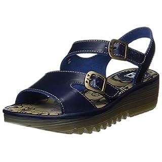 Fly London Women's ENAT028FLY Open Toe Sandals, Blue 001, 5 (38 EU)