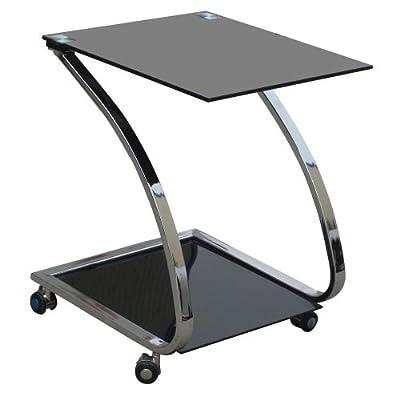 Design Couchtisch Glastisch Nachttisch Metall Beistelltisch BHP Sixtus B154036