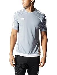 9a1e3c641a36 adidas Estro 15 JSY - Camiseta para Hombre, Color Gris Claro/Blanco, Talla