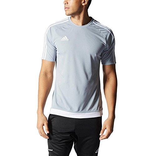 Adidas estro 15, t-shirt uomo, multicolore (gris claro/blanco), s