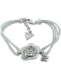Guess Damen-Armband UBB31106 versilbertes Metall Strass 18 cm