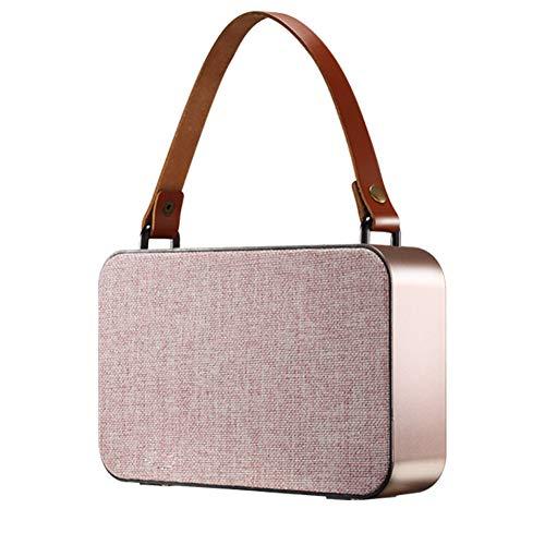 HYTGFR Tragbare Bluetooth-Musik-Audio-Lautsprecher-Stereo-Freisprecheinrichtung im Freien mit Power Bank, Gold