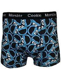 Cookie Monster sur toutes les Boxer pour Homme Motif visage Lot de 2hommes de taille plus fantaisie Boxer