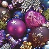 20 Servietten Christmas- Weihnachts Servietten -' Violet Composition '