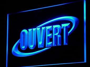 Enseigne Lumineuse j174-b OUVERT OPEN Shop Bar Neon