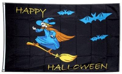 Fahne / Flagge Happy Halloween 2 + gratis Sticker, Flaggenfritze®