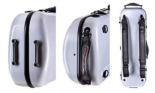 Custodia per violino Fiberglass Tonareli 4/4 EDIZIONE SPECIALE VNFO1014 GRAFITE PERLA + cartella portaspartiti - VENDITORE AUTORIZZATO