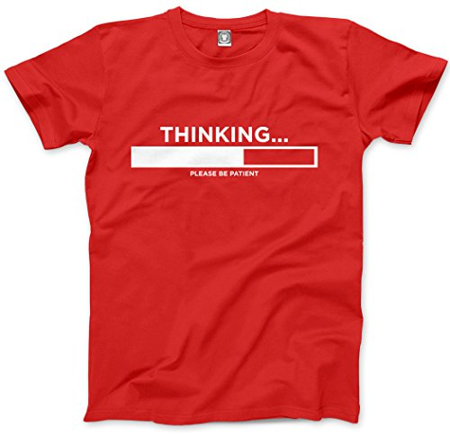 HotScamp Thinking Please Be Patient - Funny Slogan - Kids T-Shirt