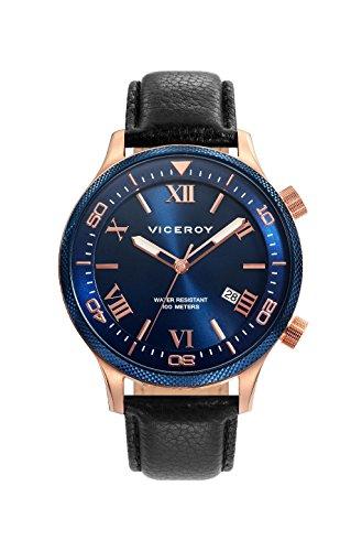 Viceroy 471153–33Men's Quartz Watch Steel IP Rose Strap Size 42mm
