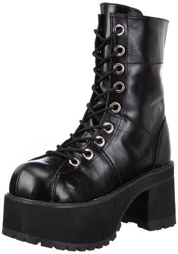 Demonia Ranger-301, Stivali Donna, Nero (Blk Vegan Leather), 37