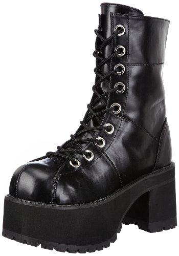 Demonia Ranger-301, Stivali Donna, Nero (Blk Vegan Leather), 36