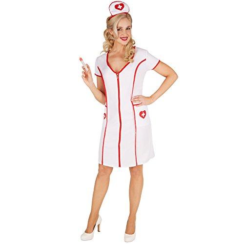 TecTake dressforfun Frauenkostüm Krankenschwester | Krankenschwesternkleid inkl. Haube -