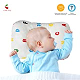 A Baby Cherry Baby Pillow :: Organic Cotton Head Shaping Pillow for Infants and Toddlers (0M to 5 Yr) - Unisex    Washable    3D Mesh Structure    Prevent Flat Head + Free Pillow Cover (Alphabets)