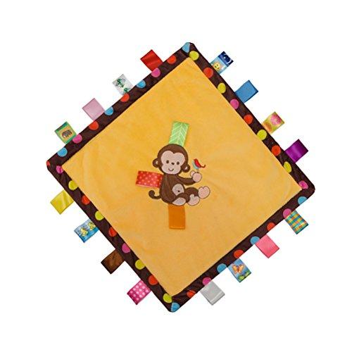 yeahibaby etiqueta comodidad manta mantas de seguridad bebé Doudou Compagnie juguete (Mono)