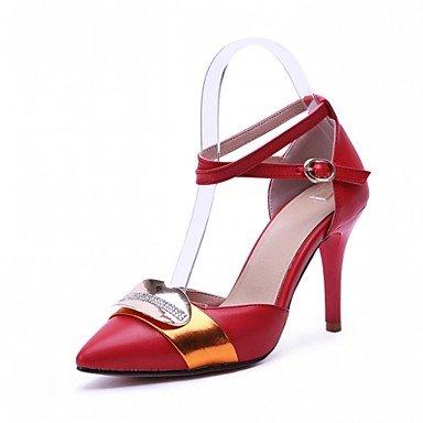 LYNXL Talloni delle donne Primavera Estate Autunno Inverno Dress Comfort novità PU similpelle nozze ufficio & carriera Party & Sera casuale tacco grosso Red