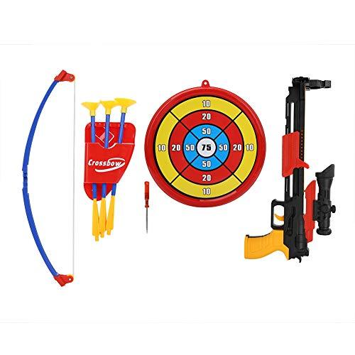 VGEBY Armbrust Spielzeug, Kinder Bogenschießen Bogen Spielzeug Set Armbrust mit Zielscheibe für Outdoor Indoor Shooting Game