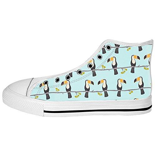 Dalliy Toucan Bird Cartoon Men's Canvas shoes Schuhe Lace-up High-top Sneakers Segeltuchschuhe Leinwand-Schuh-Turnschuhe A