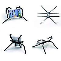 Haodou Universal Ajustable araña Multi función Grip teléfono móvil Soporte para iPhone Samsung Smartphone Bicicletas MP4 Libro (Negro)