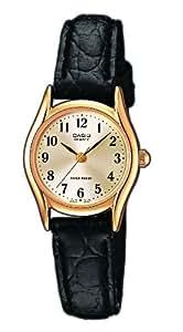 Casio - Vintage - LTP-1154Q-7B2EF - Montre Femme - Quartz Analogique - Cadran Gris - Bracelet Cuir Noir