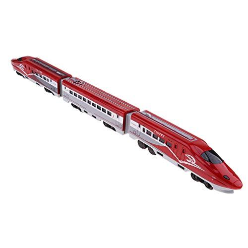 Sharplace Train Sonores et Lumineux Rechargeable - Jouet Train Transport - Véhicule Miniature