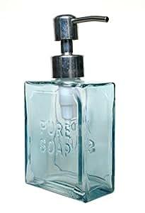 Bleu PURE verre Soap'Pompe Distributeur de savon liquide