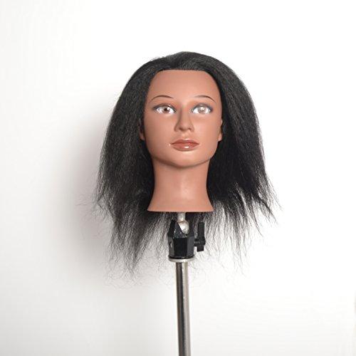 Poils de yak RCP, Cosmétologie ethnique Mannequin Cheveux humains, sont livrés avec gratuit Clamp