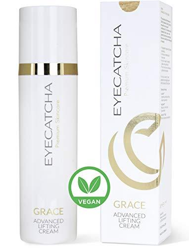 Eyecatcha GRACE Advanced Anti Aging Gesicht Crème vegan I Anti Faltencreme für Frauen und Männer I Lifting Creme mit Langzeiteffekt I 50 ml Gesichtspflege mit Arganöl und Sheabutter