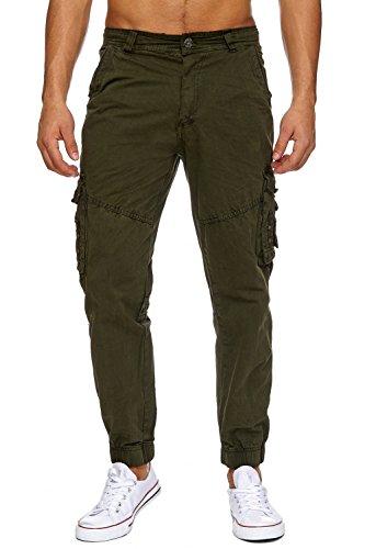 Pantalons Jeans Cargo RANGER Nr.1612 Straight Fit pour hommes (100% coton) Grün