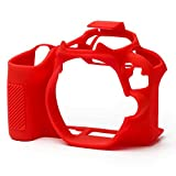 Easy Cover Silicone Protective Camera Case Cover for Canon 200D (RED)