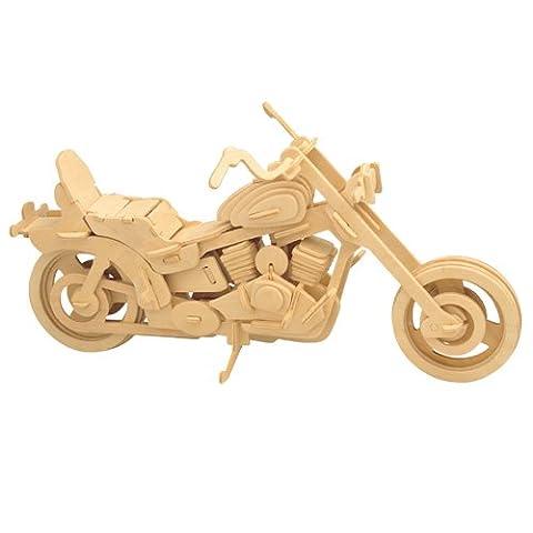 Harley Davidson I 3D Holzbausatz Motorrad Fahrzeug Holz Steckpuzzle Kinder Holzpuzzle P019 (Bausatz Harley Davidson)
