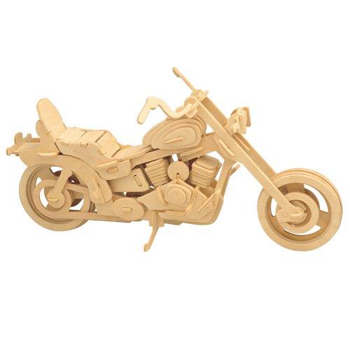 Harley Davidson I 3D Holzbausatz Motorrad Fahrzeug Holz Steckpuzzle Kinder Holzpuzzle P019