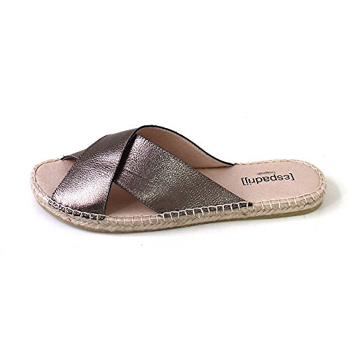 Espadrij L'originale Women's Croisette Women's Black Sandals Gold (bronze metalliq)