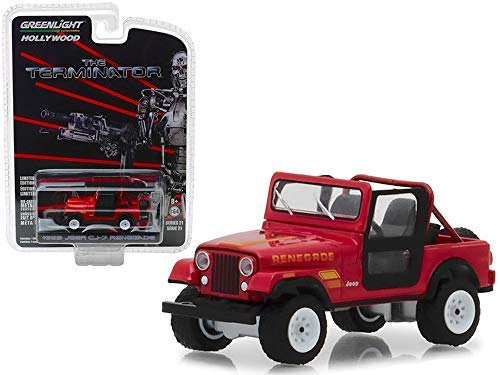 Greenlight Terminator Miniatur DieCast Model 1983 Jeep Renegade CJ-7 von Sarah Connor 1/64 Serie 21