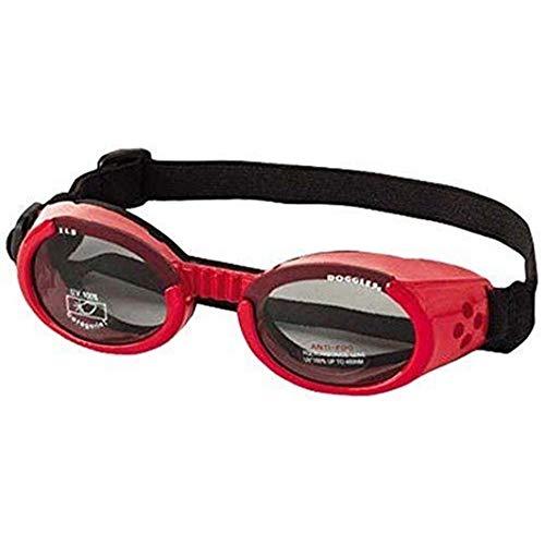 Doggles DGIL-13-XS ILS Shiny Red Frame/Smoke Lens Hundesonnenbrille, XS
