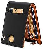 Geldbeutel mit Geldklammer und Münzfach - 11 Kartenfächer RFID Schutz - Ideal als Geschenk für Herren - Geldbörse mit Edler Geschenkbox - Tiger