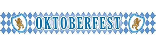 erdbeerparty - Motto-Party Deko Banner Oktoberfest, Werbebanner Bavaria Raute, Länge 6,1 m, Mehrfarbig