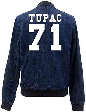 Tupac 71 Bomber Chaqueta Girls Jeans Certified Freak