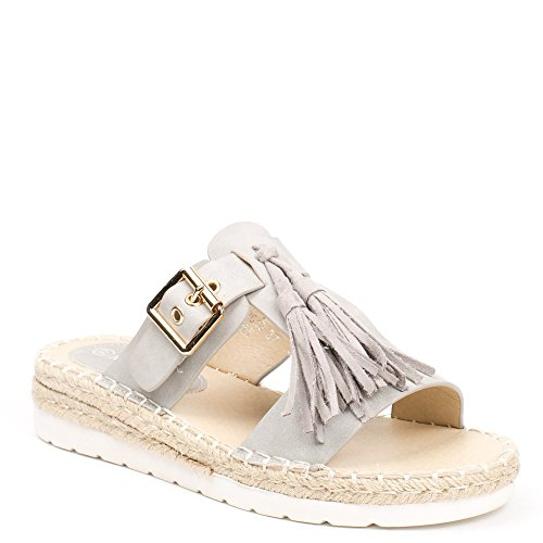Ideal Shoes , Sandali donna, grigio (grigio), 41 EU