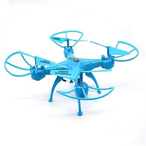 Ularma 3D Vol Durable et Léger Corps 4 Channel RC Hélicoptère 0,3 MP Caméra FPV RC Quadcopter Drone Clignotant Jouets Lumière (Bleu ciel)