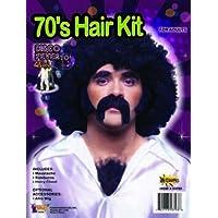 Kit de déguisement d Homme Disco des années 70 - Avec Moustache, Rouflaquettes  et 5d188d623e63