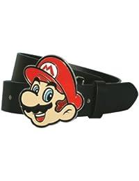 Nintendo Gürtel -XL-Mario Gesicht(Gürtel+Schnalle)