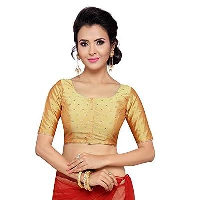 Studio Shringaar Women's Polyester Stitched Saree Blouse