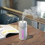 KItipeng Portable USB Humidificateur Filtre à air assainisseur Huile Essentielle diffuseur humidificateur 230ml avec Lumières LED pour Voiture, Spa, Massage, Yoga, Maison, Bureau