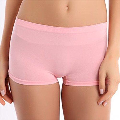 Italily-Nuove donne di modo di yoga allenamento cinturino Skinny Pants Shorts (Rosa)