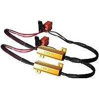 Toppower H7 Lampadina Fari LED Decoder Resistore Resistenza di Carico per Faretto H7 da Auto-50W 8Ohm