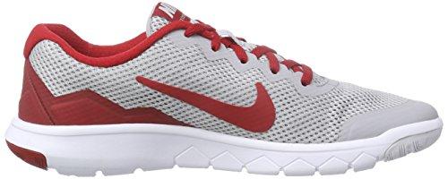Nike Flex Experience 4 (Gs), Chaussures de course mixte enfant Gris - Grau (Wolf Grey/Gym Red/Metallic Silver 006)