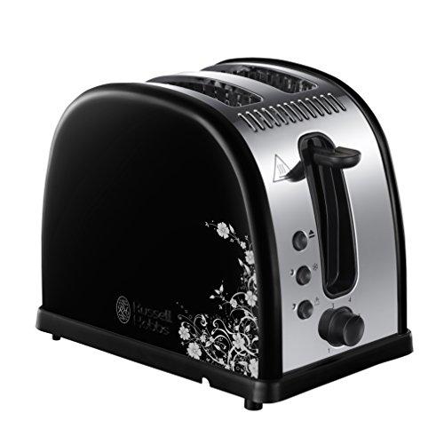 Russell Hobbs 21971-56 Legacy Floral Toaster, Schnell-Toast-Technologie, 6 einstellbare Bräunungsstufen, 2 extra breite Toastschlitze, Automatische Brotzentrierung